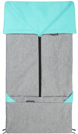 Emitex vreča za voziček 2v1 SEBI, siva/modra