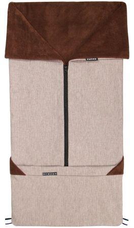 Emitex vreča za voziček 2v1 SEBI, rjava
