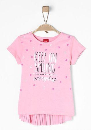 s.Oliver dívčí tričko 104 - 110 svetlo ružová