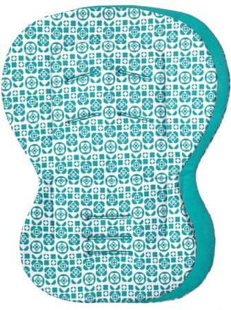 Emitex wkładka do fotelika MOBY, aqua/kwiaty
