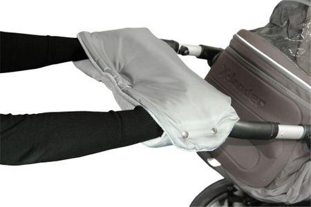 Emitex muff za voziček, siv