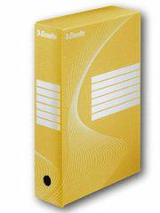 Krabice archivační žlutá 80 mm