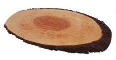 Portoss ovalna deska z lubjem, 50-60 cm, voskana