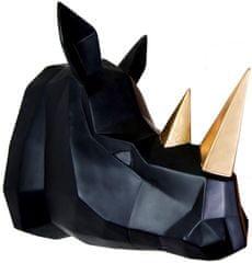 Walplus Nástěnná závěsná dekorace, černý nosorožec