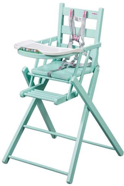 Candide Skládací jídelní židlička Combel, zelená