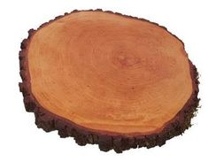 Portoss okrugla daska s korom, promjera 25-30 cm, s voskom