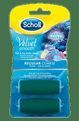 Scholl Náhradné hlavice do elektrického pilníka Velvet Smooth Stredne drsná s morskými minerálmi 2 ks