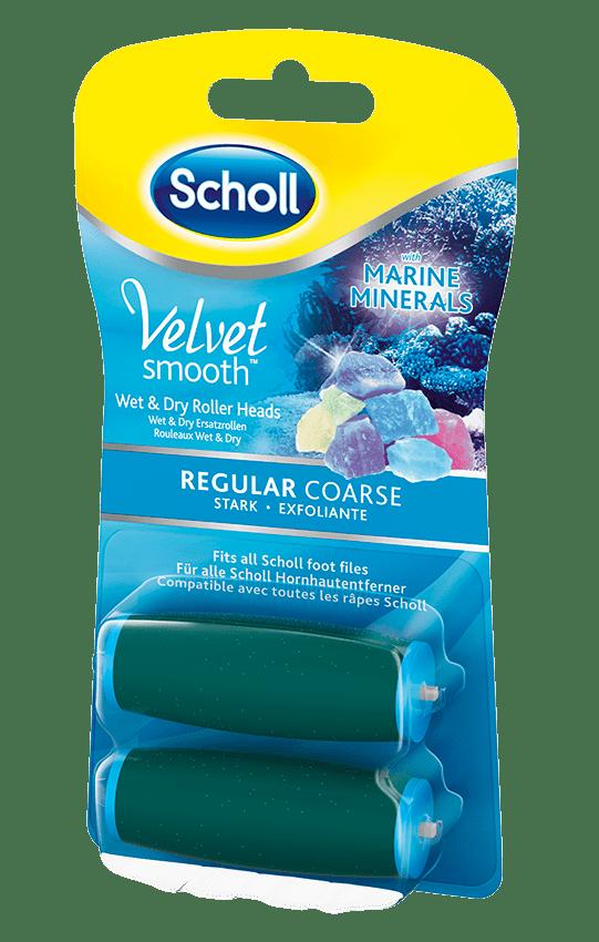 Scholl Náhradní hlavice do elektrického pilníku Velvet Smooth Středně drsná s mořskými minerály 2 ks