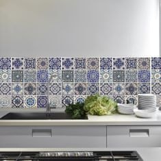 Walplus Samolepicí tapeta Spanish Blue Tile