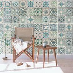 Walplus Samolepicí tapeta Green tiles