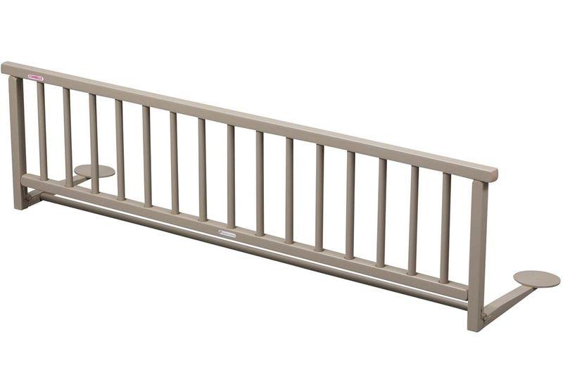 Candide Combelle Dřevěná zábrana k posteli, šedá