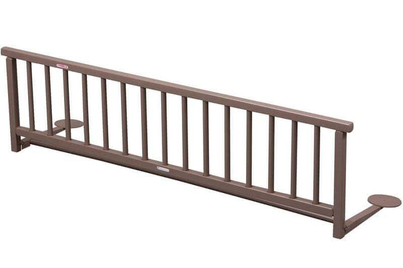 Candide Combelle Dřevěná zábrana k posteli, hnědá