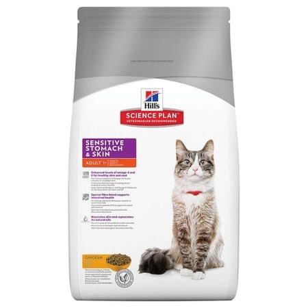 Hill's hrana za mačke z občutljivo kožo Feline, 5 kg