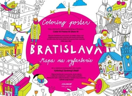 Abaffy Tero: Bratislava Mapa na vyfarbenie