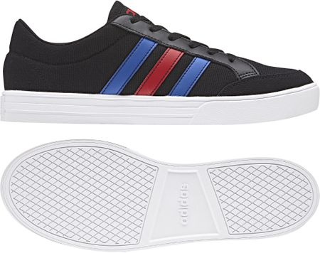 Adidas moški čevlji VS Set Core Black Blue Scarlet, 44,7