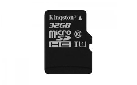 Kingston spominska kartica microSDHC, 32GB (SDCS/32GBSP)