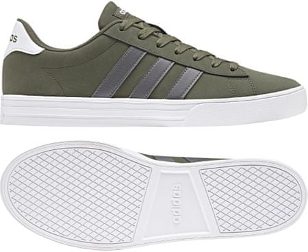 Adidas moški čevlji Daily 2 Base Green S15 Grey Four Ftwr White, 46,7