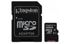 Kingston Micro SDXC Canvas Select 128GB 80MB/s UHS-I + SD adaptér (SDCS/128GB)