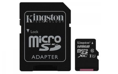 Kingston spominska kartica microSDXC, 128GB (SDCS/128GB)