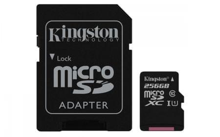 Kingston spominska kartica microSDXC, 256GB (SDCS/256GB)