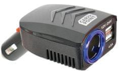 CarPoint Rozdvojka USB 12V/24V 4,8A se zásuvkou DC