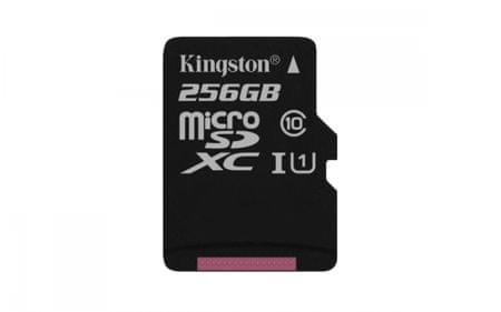 Kingston spominska kartica microSDHC, 256GB (SDCS/256GBSP)