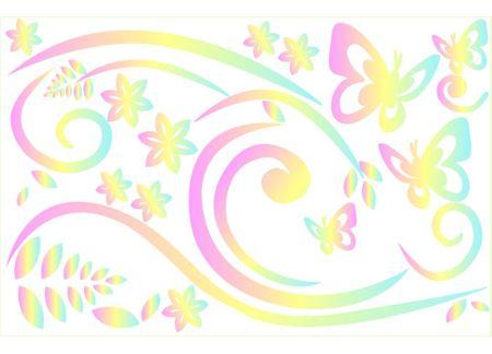 Dimex Dekoračné nálepky Motýle, 65 x 100 cm