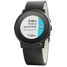 Pebble Time Steel Round Smartwatch černé 20 mm