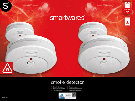 Smartwares Füstérzékelő, 4pack (10.100.41)