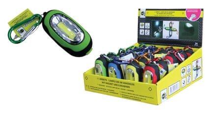 Finish baterijska LED svjetiljka s karabinom COB