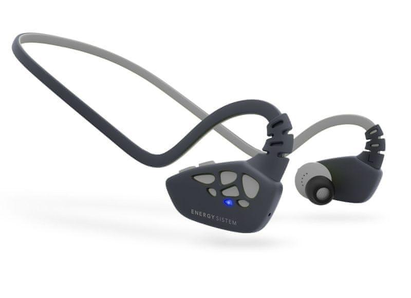 Energy Sistem Earphones Sport 3 Bluetooth, stříbrná