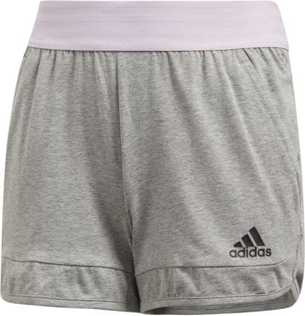 Adidas YG ID CO SHORT Medium Grey Heather Aero Pink Black 164