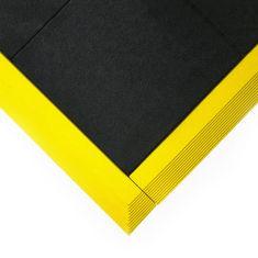 Černá gumová protiskluzová protiúnavová průmyslová modulární rohož Fatigue - 90 x 90 x 1,8 cm