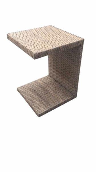 Dimenza Odkládací stolek k lehátku - šedý
