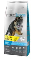 Nutrilove Dog Junior Large Fresh Chicken 12kg + 2,4kg Zdarma