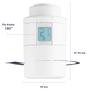 6 - DANFOSS Eco  Bluetooth, inteligentna głowica termostatyczna 3x, biała