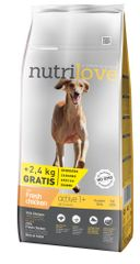 Nutrilove Dog Active Fresh Chicken 12kg + 2,4kg Zdarma