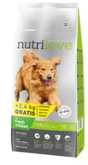 Nutrilove Dog Senior Fresh Chicken 12kg + 2,4kg Zdarma
