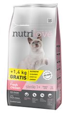 Nutrilove Cat Sterile Fresh Chicken 7kg + 1,4kg Zdarma