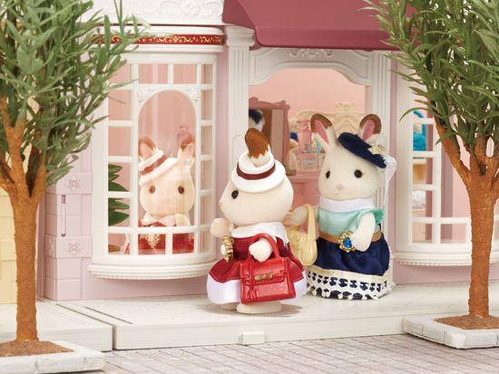 Sylvanian Families Czekoladowe króliczki w eleganckich sukniach 6001