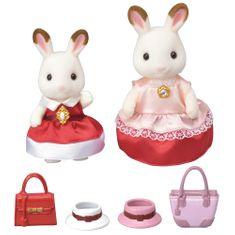 Sylvanian Families Cchocolate 2 králičí kamarádky v elegantních šatech 6001