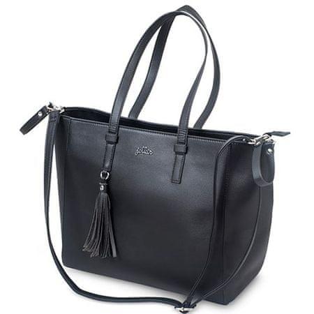 Jollein usnjena torba ZOE, Black