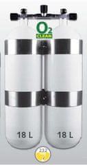 """EUROCYLINDER Lahev """"dvojče"""" 2 x 18 L 230 bar s manifoldem a obručemi"""