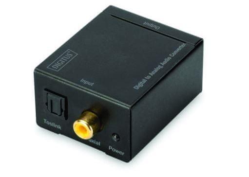 Digitus audio pretvarač SPDIF/Digitalni Koaxu audio Analog 2xRCA (Ž)