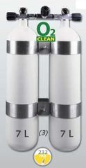 "EUROCYLINDER Lahev ""dvojče"" 2 x 7 L široké 230 bar, komplet"