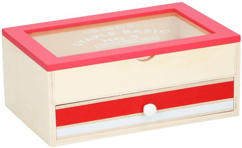 Time Life Úložná krabička s šuplíkem, červená