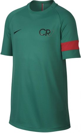 Nike koszulka CR7 B NK Dry Acdmy Top SS Kinetic Green Deep Pewter XS