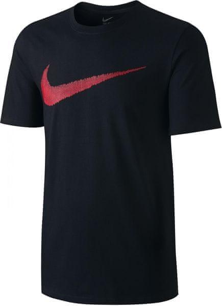 Nike M NSW Tee Hangtag Swoosh Black Sport Red XS
