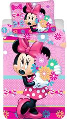 Jerry Fabrics posteljnina Minnie Bows and Flowers, Minnie Bows s cvetjem