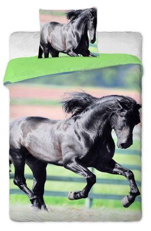 Jerry Fabrics posteljnina Črni konj
